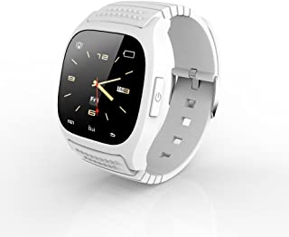 RWATCH M26S WEARABLE BLUETOOTH SMARTWATCH HANDS-FREE CALLS MEDIA CONTROL PERFECT SUPPORT FOR ANDROID AND APPLE DUAL SYSTEMS ULTRA-THIN BUSINESS CASUAL SMARTWATCH(WHITE)