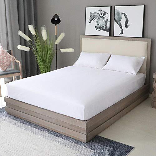 XGguo Protector de colchón Acolchado - Microfibra - Transpirable - Funda para colchon estira hasta Sábana Impermeable cepillada impresión en Color sólido-20_180x200x28cm