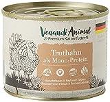 Venandi Animal - Pienso Premium para Gatos - Pavo como monoproteína - Completamente Libre de Cereales - 6 x 200 g
