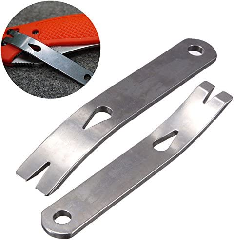 Yosoo Mail order Mail order cheap 2pcs Mini Crank Crowbar Pry Pocket Steel 3-inch Stainless