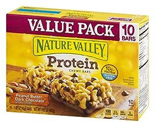 Nature Valley Protein Bar, Gluten Free, Granola Bar, Peanut Butter Dark Chocolate 10 Bars, 14.2 Ounc