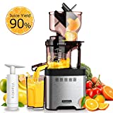 Slow Masticating Juicer Machine – Vitaextra Cold Press Juicer Extractor with Wide Chute, 35RPM...