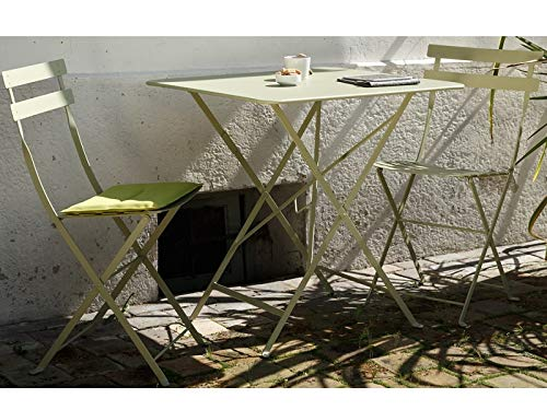 Set Arc en Ciel: Table Pliante Art. 334 Centimetre 50 x 70 et 2 chaises Art. 314 couleur Tourterelle Cod. 71