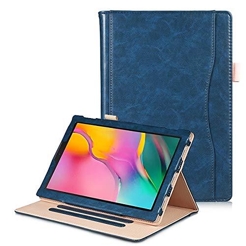 Skhawen For Samsung Galaxy Tab A 8.0 SM-T295 T290 T297, Estuche de Tableta de Estuche de Cuero PU for pestaña A8 2019 con Soporte de Manos (Color : Dark Blue handholder)