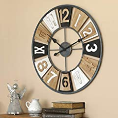 Silent Non-Ticking Wall Clock: This extra large round wall clock is compeletely silent at work. After installing the battery, Please check whether the small gears on the clock movement box are rotating? It is recommended to confirm whether the clock ...