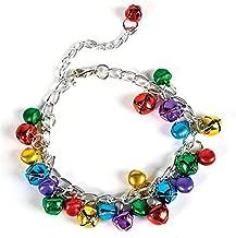 Rhode Island Novelty Holiday Bracelet with Bells 1 Per Order