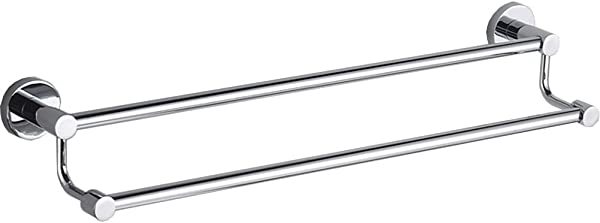 Spring Fever Bathroom Double Towel Bars Shelf Rack Hanging Towel For Bath Storage Stainless Steel Chrome Finish 19 7 Inch