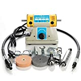 Hengwei Mini Bench Lathe Polisher Jewelry Jade Rock Polishing Buffer Machine Tool Kit 110V 350W