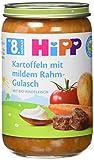 Hipp Kartoffeln mit mildem Rahm-Gulasch mit Bio-Rindfleisch, 220 g -