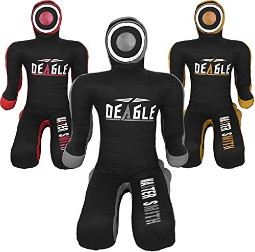 Deagle Master Smith MMA Grappling Submission Sitting Dummy (Black/Gray, 6FT)
