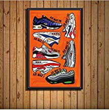 Sneaker Fashion Shoes Aj History Air Max Art Painting Silk Canvas Poster Wall Home Decor 40 * 60 cm No Frame