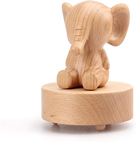 Nouveau Hommesg Hommesg Rhino Hippo Lapin éléphant Animal Boîte à musique Mini rougeation Boîte à Musique En Bois Décoration Envoyer Fille Cadeau D'anniversaire (Style   Rabbit)
