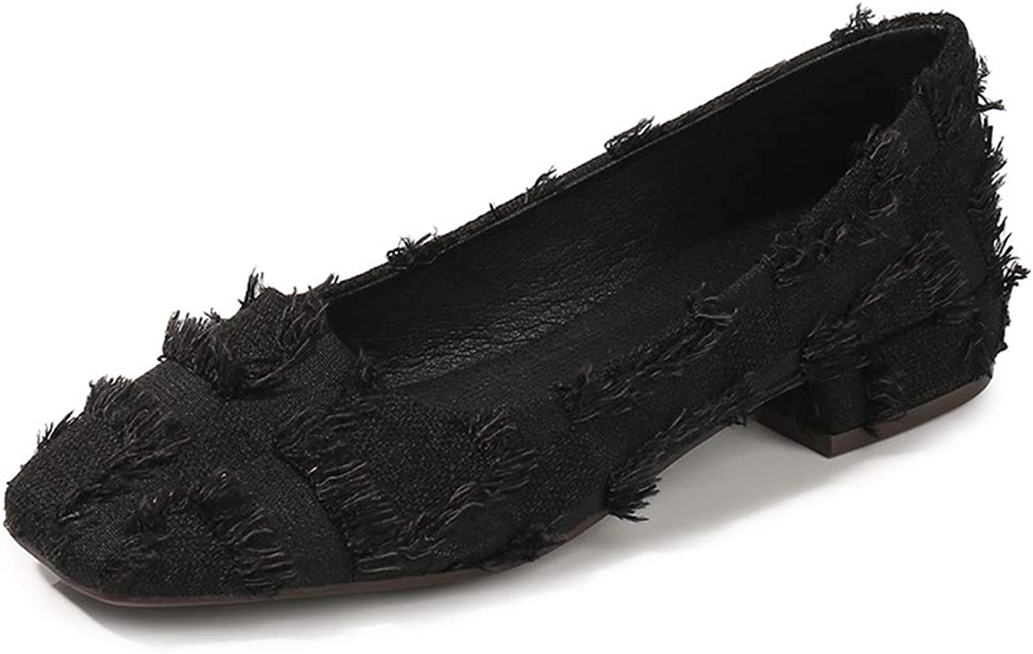 Kyle Walsh Pa Women Flats shoes Low Heel Square Toe Ladies Stylish Office Working Moccasins