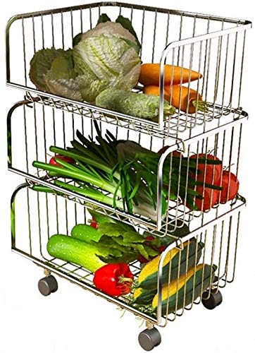 XT-Estante de verduras Fruta Vegetal almacenaje Estante Cocina Piso de Almacenamiento múltiple plástico plástico Fruta y Vegetales Almacenamiento Plato de Plato de Plato Estante, Blanco, 2 Capas