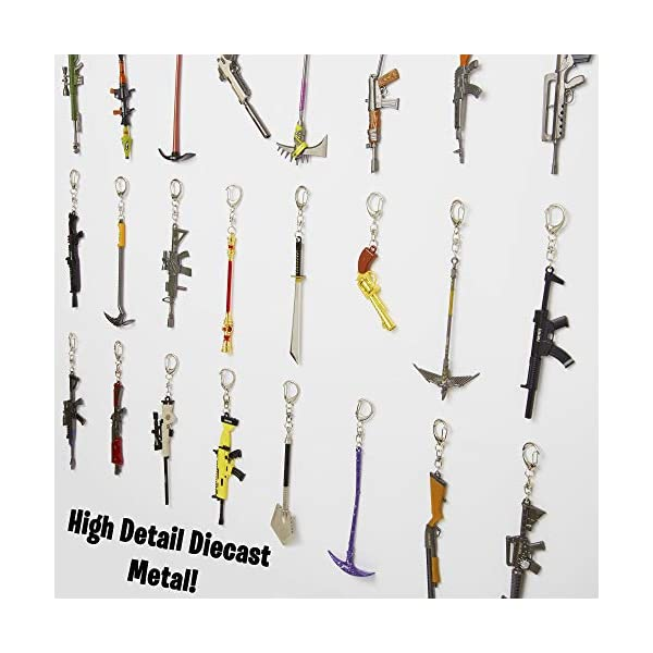 Sambro-Llavero Fortnite 3D, armas de metal, para coleccionar e intercambiar, aprox. 12 cm, colores surtidos carbón (PMI… 5
