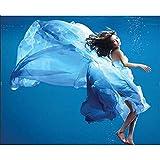 Puzzle de 1500 Piezas Para Adultos Rompecabezas de Madera Bailarina de vestido azul Entretenimiento Juguetes Regalo educativo Decoración moderna para el hogar