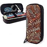 McFadden - Apellido americano Estuche de lápices de cuero de gran capacidad...
