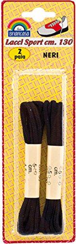 Briancasa 2 Paia di Lacci Sport Colore Bianco 130 cm, Unica