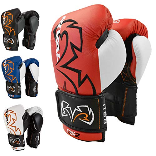 RIVAL Boxing Evolution Hook and Loop Bag Gloves - Medium - Red
