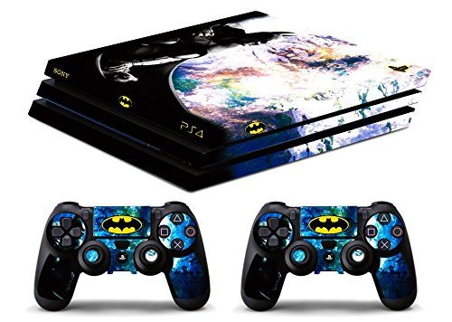 Skin Ps4 PRO - BATMAN - limited edition DECAL COVER ADESIVA Playstation 4 Slim SONY BUNDLE - VINILE LUCIDO