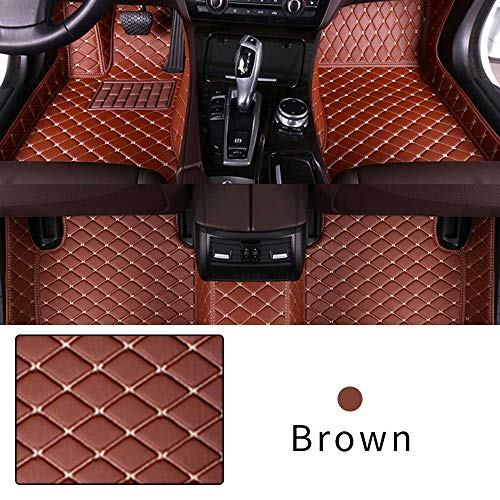 Car Floor Mat Custom Made For 95% CAR, Full Coverage Interior Protection Waterproof Non-Slip Leather Mat Brown
