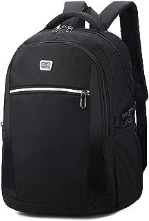 Sturdy Men's Business Computer Backpack Travel and Leisure Travel Shoulder Handbag Schoolbags Large Capacity (Color : Black)