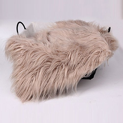 Baby Photo Props Blanket, Newborn Faux Fur Photography Basket Stuffer Rug, Beanbag Background Backdrop Mat (2# ,Khaki)