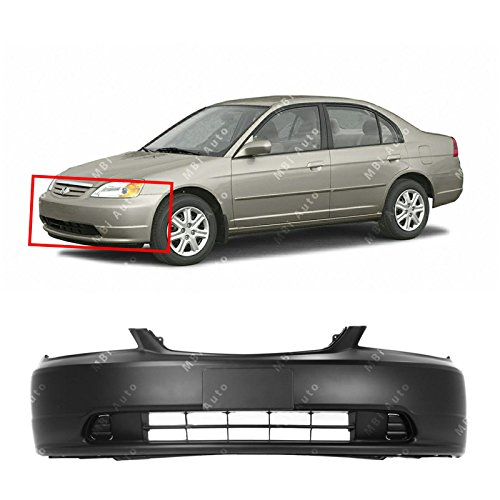 MBI AUTO - Primered, Front Bumper Cover for 2001 2002 2003 Honda Civic, HO1000197
