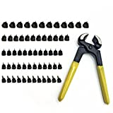 30 Pairs Women's High Heel Shoes Replacement Dowels Repair Tips Pin (8/9/10/11 /12 mm) & Stiletto Remove Pliers Shoe Repair Kit