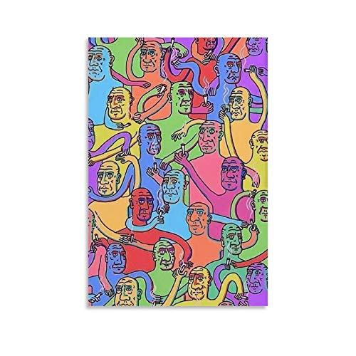 Aesthetic Pinterest Trippy Art Leinwand-Kunst-Poster und Wandkunstdruck, modernes Familienschlafzimmerdekor, 20 x 30 cm