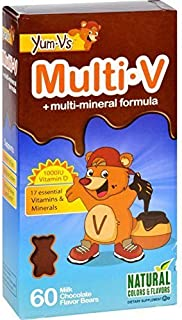 YumV'S Multi V W/Vitamin D, Milk Chocolate 60 Chews - 2 Pack