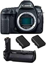 Canon EOS 5D Mark IV DSLR Camera (Body) + Canon BG-E20 Battery Grip + 2 Spare Batteries
