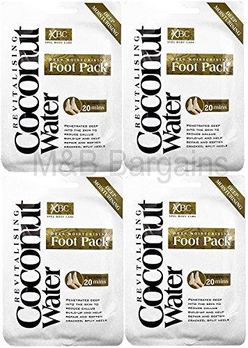 4 x Treatment Deep Moisturising Revitalising Coconut Water Foot Pack