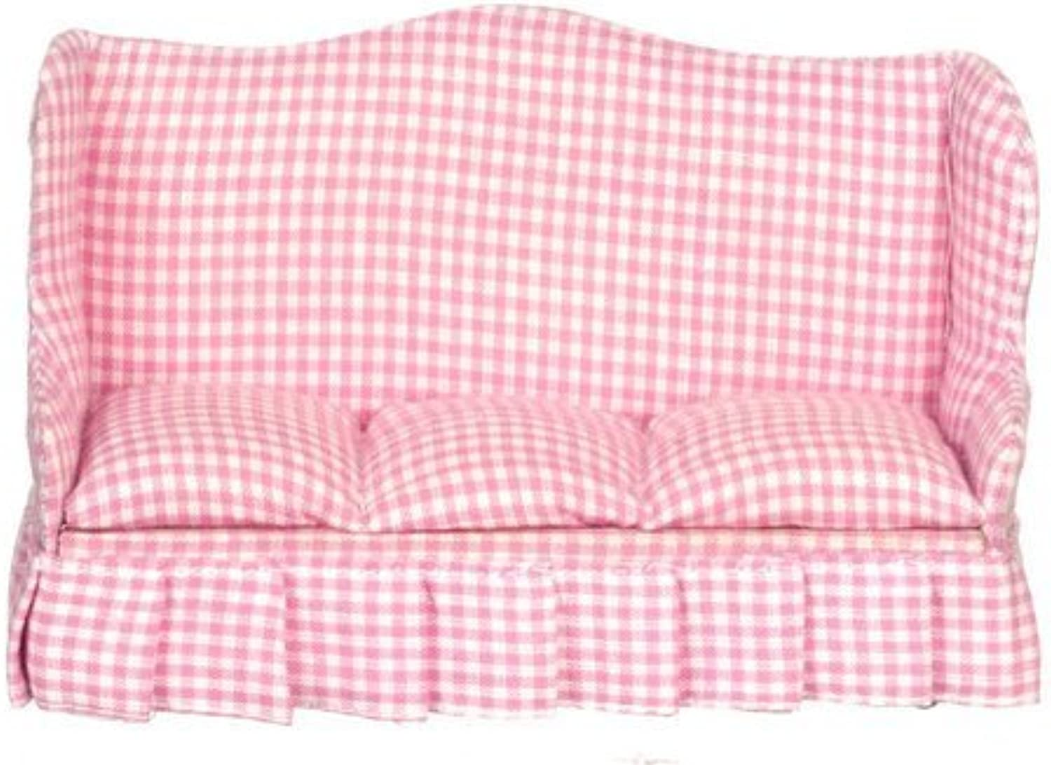 Dollhouse Living Room Sofa Pink Fabric by Classics