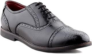 Zebra Men's Genuine Leather Black Formal Brogue Shoes