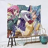 TUCBOA Wall Tapestry,Tapiz Colgante De Anime Rosario + Vampire, Atractivos Tapices Grandes para La Decoración del Hogar De La Oficina,150x150cm