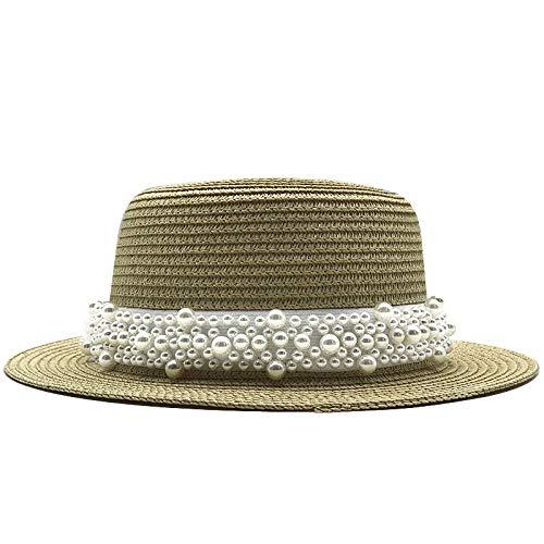 TSP Sommer-Sonnenhüte für Damen, Strohhut im Panama-Stil, Cappelli, Seite mit...