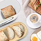 VALELA Brotkasten – Brot Box ideal zur Brotaufbewahrung geeignet, Testsieger Brotkasten mit Schneidebrett, hochwertiger Brotkorb Weiß - 5