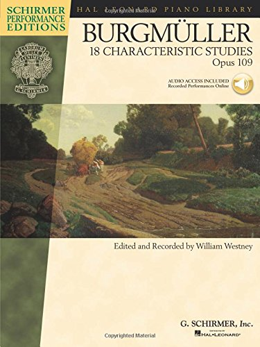 Johann Friedrich Burgmuller: 18 Characteristic Studies Op.109 - Schirmer Performance Editions: Songbook, CD für Klavier (Hal Leonard Piano Library)