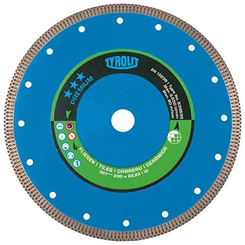 Tyrolit 639559 Diamant-Trennscheibe DCT für Fliesen, 115 mm x 1.2 mm/10 mm x 22.2 mm