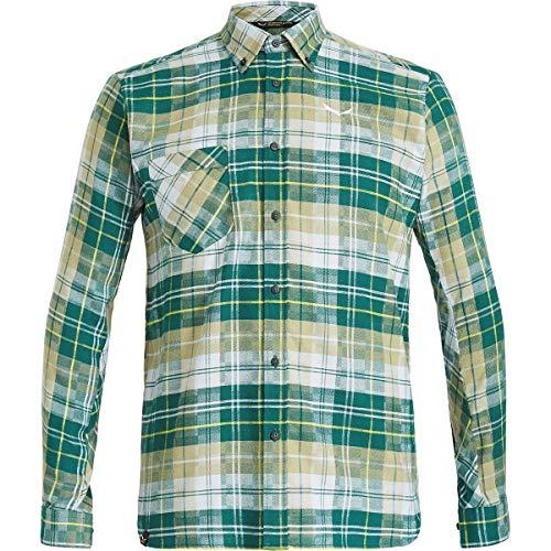 Salewa Herren FANES Flannel 3 PL M L/S SRT Hemden, M Botan/monst/bl Fog, 46/S