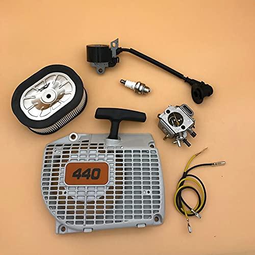Carburador Filtro de Aire Bobina de Encendido Módulo Starter Park Plug Fit para STIHL 044 046 MS440 MS460 Motosierra herramientas Accesorios