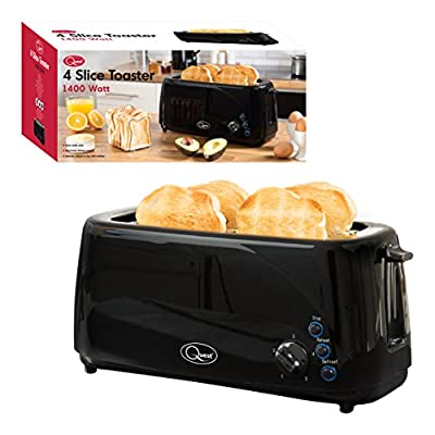 Quest 35049 4-Slice Toaster Extra Wide Slots Cool Touch, 1400W