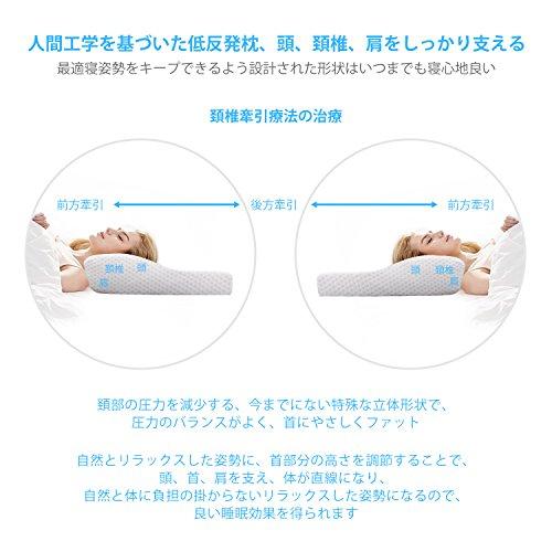 MOFIR枕低反発まくらマクラ首・頭・肩をやさしく支える健康枕ヘルスケア枕人間工学設計いびき防止頭痛改善肩こり対策安眠快眠仰向き横向き対応洗えるピロー