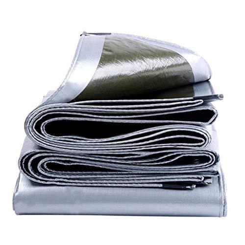 Waterdicht dekzeil, gevoerde bodembedekking, zonnecrème, scheurvast, verbetert anti-aging, een groot aantal maten, 200 g/m2 (zilver) 3x3m
