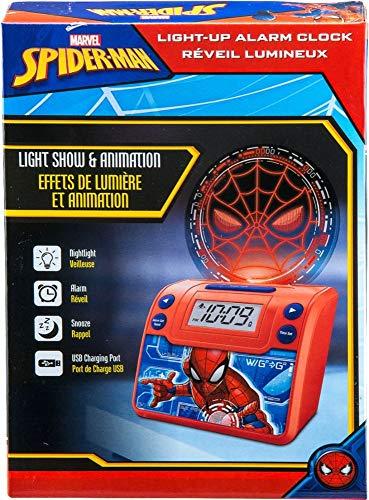eKids - Marvel Spider-Man Alarm Clock - Red