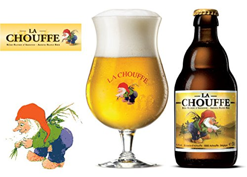 Set of 2 Official La Chouffe Beer Glass La Chouffe Beer Chalice Glasses 25cl