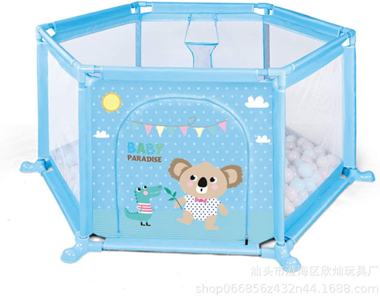 Newborn Hexagonal Fence Predective Infant Playpen Deluxe Household Playyard Toddler Activity Center Safe Crawling Washable Portable