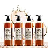 Prija - Gel doccia e shampoo con ginseng, 4 flaconi da 380 ml, linea corpo e capelli