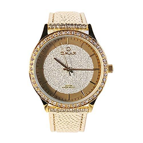 Omax Relojes de Pulsera para Mujer Type gt002g11i Elegante de Cuarzo japonés